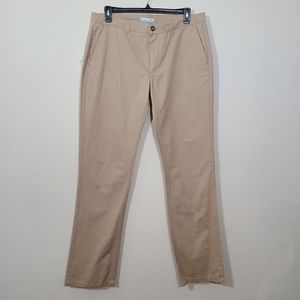 Slate & Stone Mens Straight Leg Khaki Dress Pants